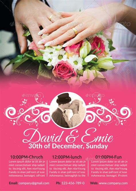wedding flyer 25 free psd ai vector eps format