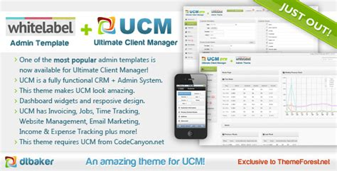 themeforest crm ucm theme white label by dtbaker themeforest