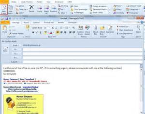 outlook 2010 template how to use a template as an automatic reply in outlook