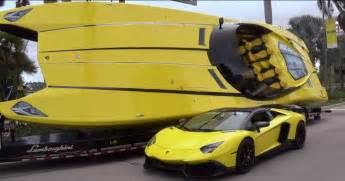 How Much Hp Does A Lamborghini Aventador 1 3 Million Lamborghini Boat Has 2 700 Hp And Aventador