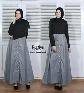 Rabiya Dress Black by Jual Kerudung Rabiya Edisi Desember 2015 Jual Busana Muslim