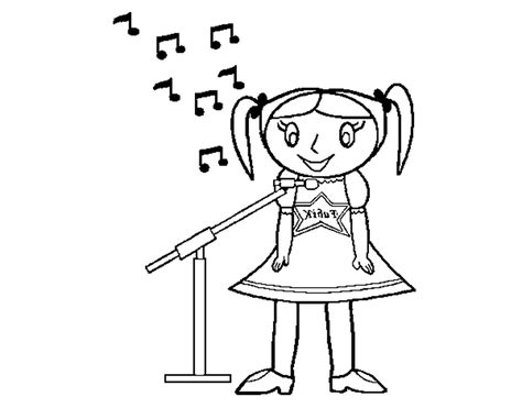Singer Coloring Page For Kids Coloring Home Singing Coloring Pages