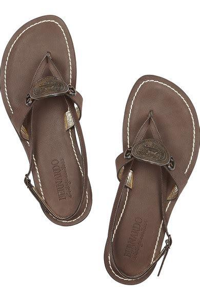berardo porte bernardo centurion coin embellished leather sandals