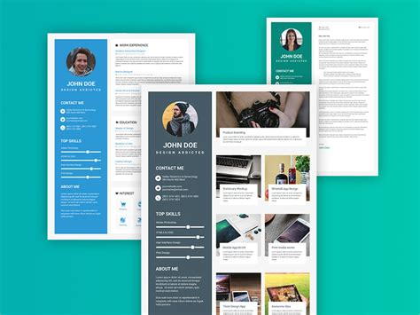 get acquainted with material design free templates online free material design resume template with elegant style