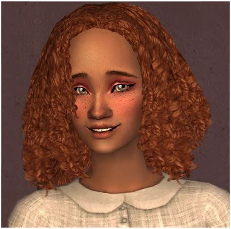Afro Hairstyles Sims 2 | selene short bouncy curls exclusive ts2 hair
