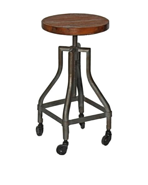 Stool With Wheels by Melange Home Reevolution Revolving Bar Stool On Wheels