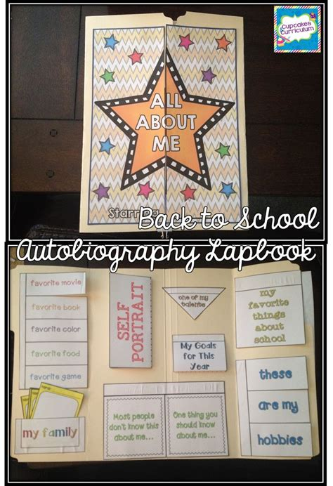 biography and autobiography display back to school lapbook bulletin board display fun