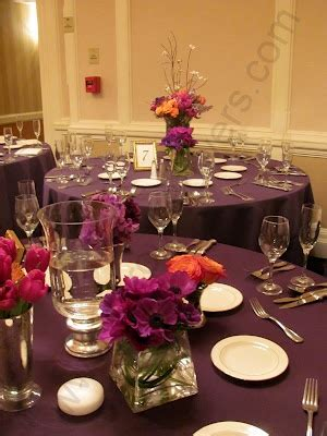 1000 Images About Ideas For A Fall Purple Orange Purple And Orange Centerpieces For Weddings