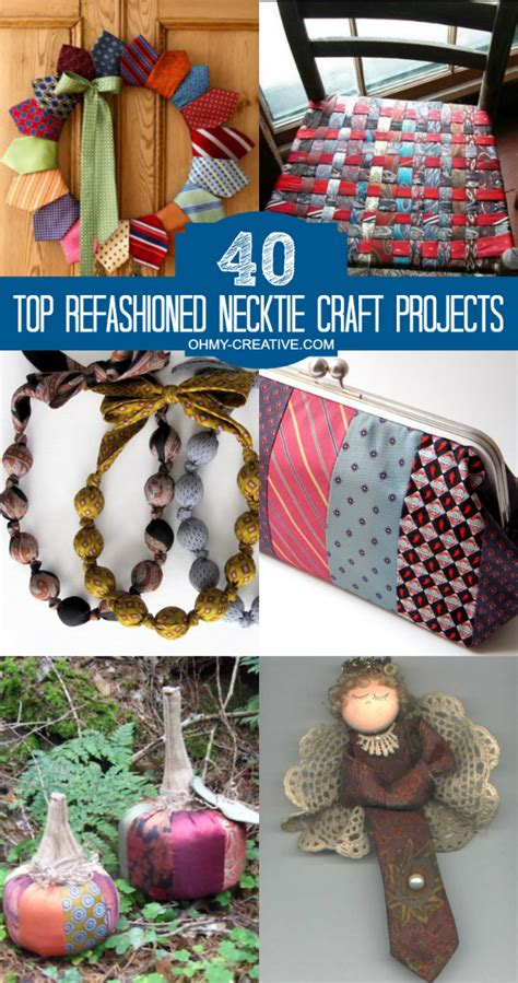 mens ties craft projects 40 top refashioned necktie craft projects oh my creative