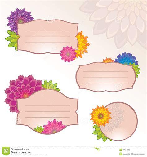 design flower tag sticker flower design kamos sticker