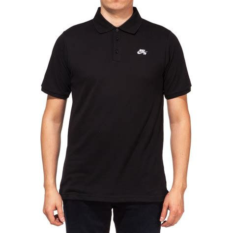 Dri Fit Polo nike sb dri fit pique polo shirt black white