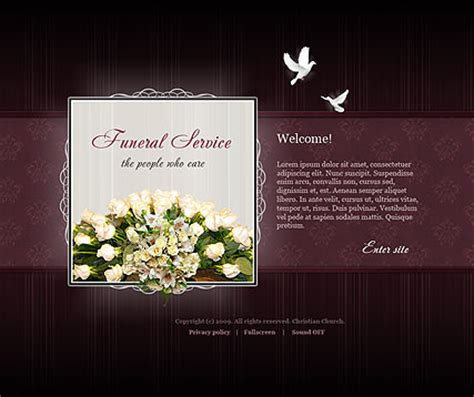 Funeral Presentation Template by Funeral Service Easy Flash Template Id 300110321