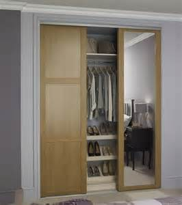 Howdens Bedroom Wardrobe Shaker Panel Door Oak With Shaker Mirror Door Oak