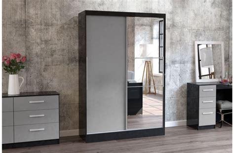 birlea lynx black with grey gloss sliding door wardrobe