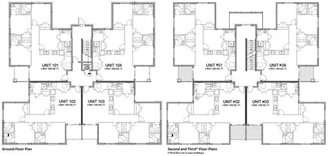 4 plex apartment plans awesome 8 plex apartment plans pictures building plans