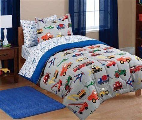 boy twin comforter sets 5pc boy blue green red car truck transportation twin