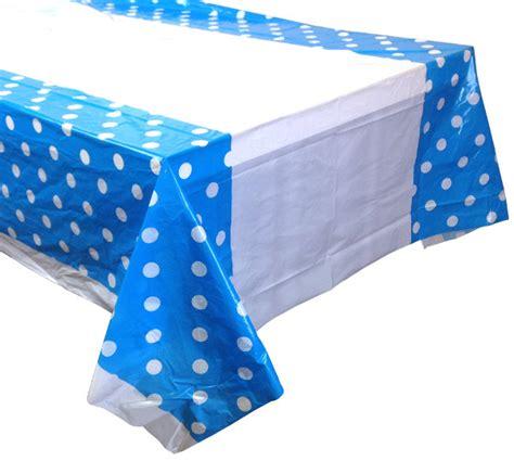 Polka Blue Bergo Busui Ay large powder blue polka dot plastic tablecloth