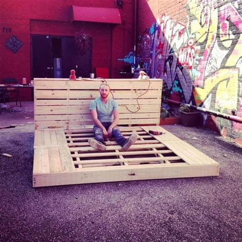 Bench From Headboard And Footboard 42 Diy Recycled Pallet Bed Frame Designs