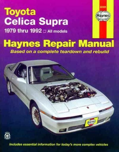 online car repair manuals free 2005 toyota celica electronic toll collection toyota celica supra 1979 1992 haynes service repair manual sagin workshop car manuals repair