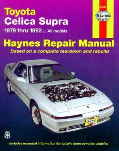 online car repair manuals free 1992 toyota celica user handbook toyota celica supra 1979 1992 haynes service repair manual sagin workshop car manuals repair