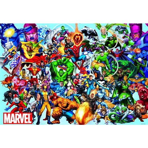 marvel jigsaw jigsaw puzzle 1000 pieces marvel marvel heroes educa