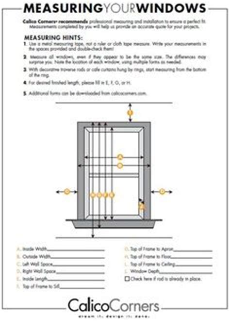 drapery measurement worksheet window treatments on pinterest window treatments