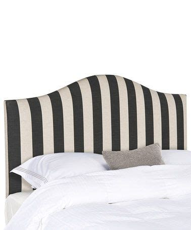 black and white striped headboard safavieh black white striped anna full headboard full