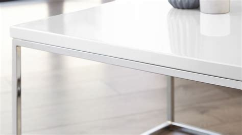 Large White Coffee Table Large White Gloss And Chrome Modern Coffee Table Uk