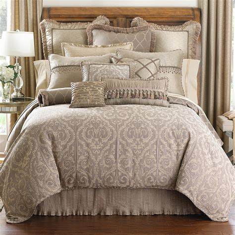 taupe comforters waterford hazeldene taupe collection bloomingdale s