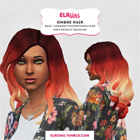 elr sims ombre hair 2 sims 4 downloads