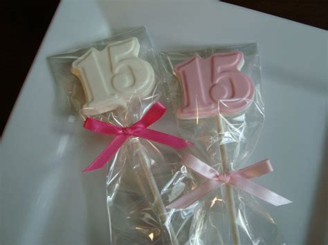 Quinceanera Giveaways - chocolate number 15 lollipops quinceanera birthday party favors 15 dessert