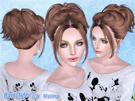skysims hair child 188 sims 3 pinterest small ponytail hairstyle 228 by skysims sims 3 hairs
