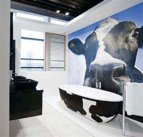 cow bathroom decor stone one cow eclectic bathroom other metro by pscbath