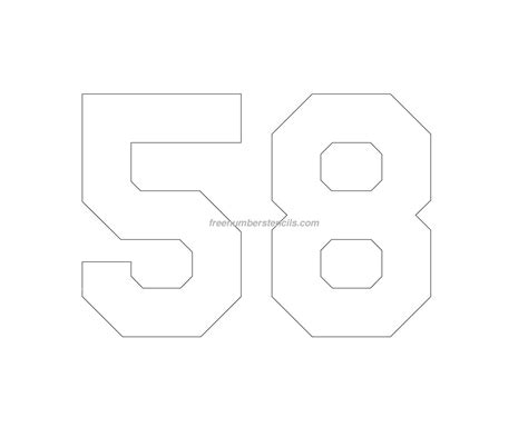 printable jersey numbers free jersey printable 58 number stencil