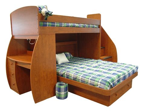 Wood Bunk Bed With Desk Wooden Size Bunk Bed With Desk And Stairs Plus Drawers Of Gorgeous Wooden Bunk