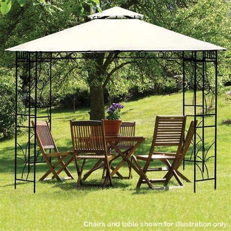 Croft 3m X 3m Beige Merion Gazebo Buy Online At Qd Stores Gazebos And Pergolas For Sale