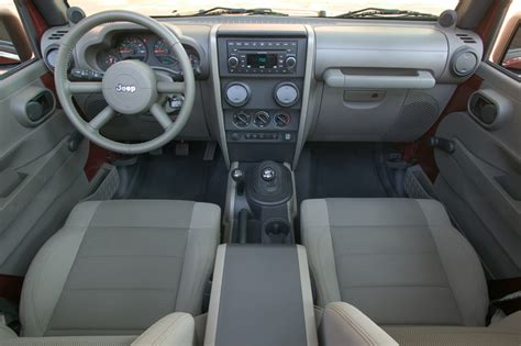 2007 Jeep Wrangler Unlimited Interior More Interior Space And Comfort