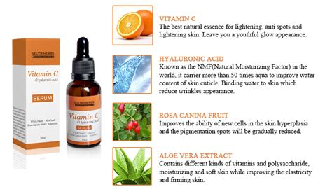 Serum Vitamin C Rossa neutriherbs vitamin c hyaluronic acid serum for whitening
