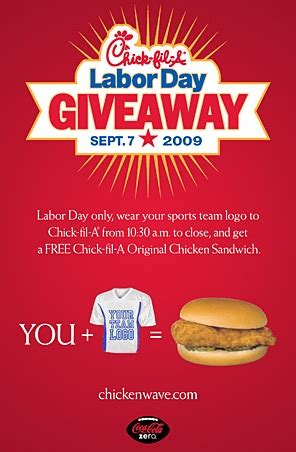 Chick Fil A Giveaway - 4 sep 2009 filed under food buzz author tasha