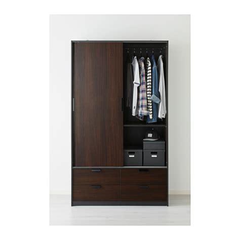 ikea trysil wardrobe trysil wardrobe w sliding doors 4 drawers brown