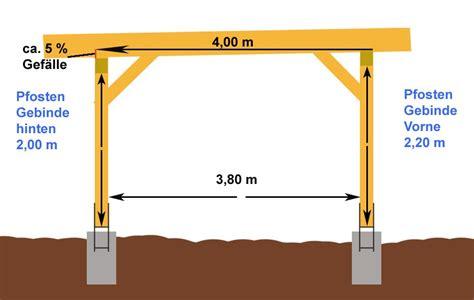 carport selber bauen anleitung anleitung einfachen flachdach carport selber bauen