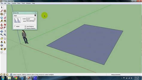 computing square footage calculating square footage in sketchup youtube