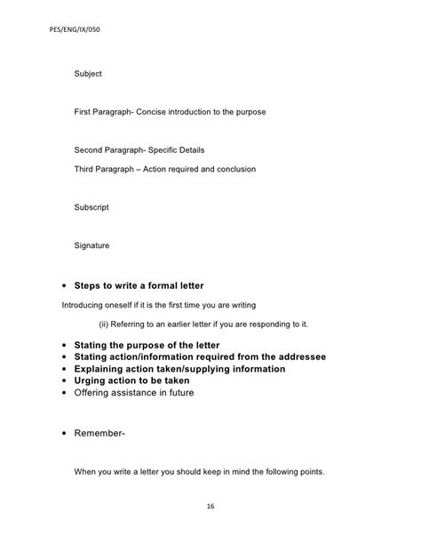 Official Letter Format Subject Ix Application And Letter Writing 2 Beta