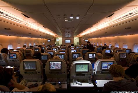 emirates cabin emirates a380 economy cabin flickr photo