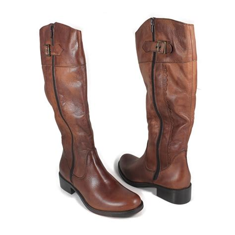 leather riding riding boots in genuine leather tan made in italy