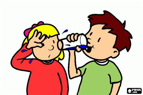 imagenes niños bebiendo agua bebiendo agua para colorear bebiendo agua para imprimir