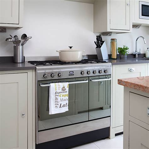 Storage Solutions For Small Bedroom by Neutral Kitchen With Range Cooker Decorating Ideal Home