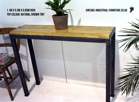 industrial console table vintage industrial console table