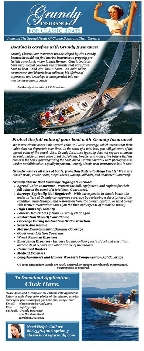 grundy boat insurance grundy classic boat insurance classic sailboats