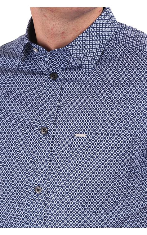 square pattern shirt name diesel diesel mens leppa ss square pattern shirt navy
